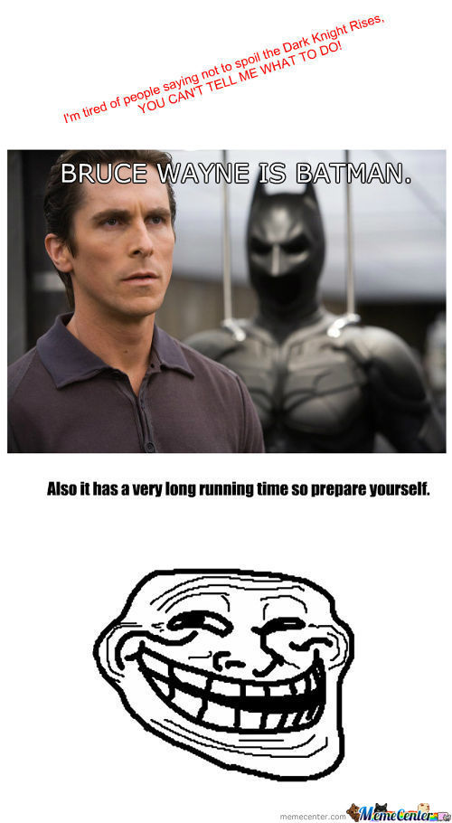 Spoiler For The Dark Knight Rises
