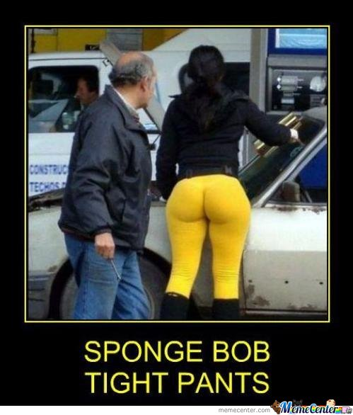 Sponge Bob Tight Pants