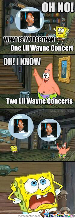 Spongebob Goes To A Lil Wayne Concert