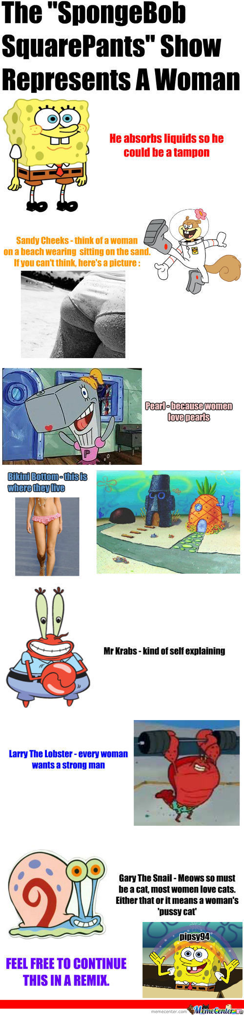 Spongebob Represents A Woman