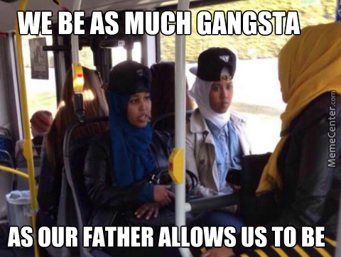 Spotted In Sweden, Islam Conservative Gangstas, Yo!