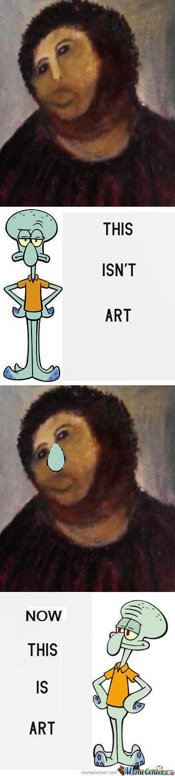 Squidwards Work Of Art