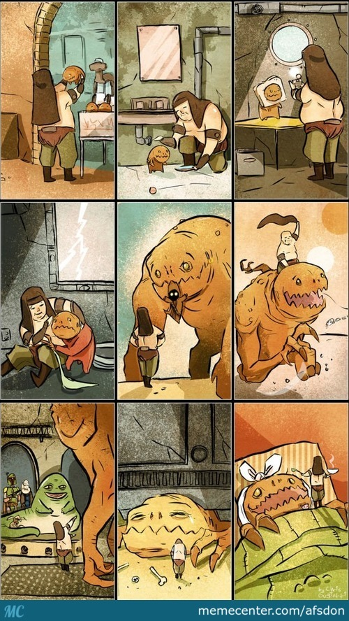 Star Wars Bffs: The Tale Of A Man And His Rancor