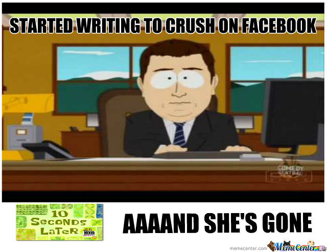 Started Writing To Crush Aaaand She's Gone