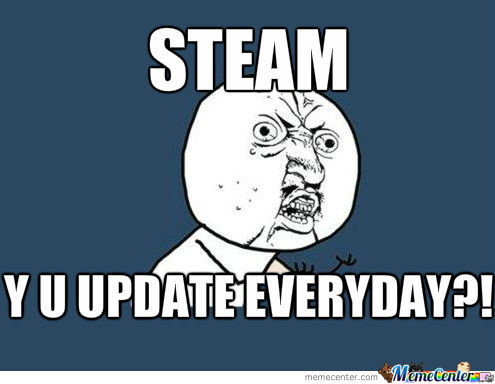 how to stop an update steam