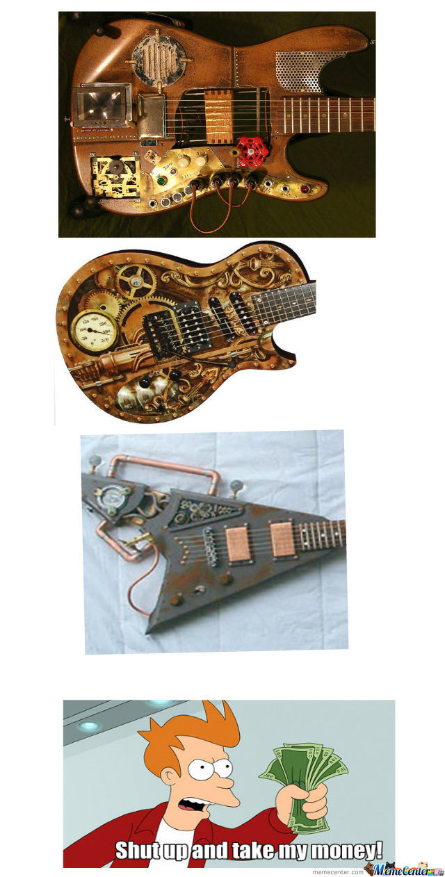 Steampunk Guitars!!!