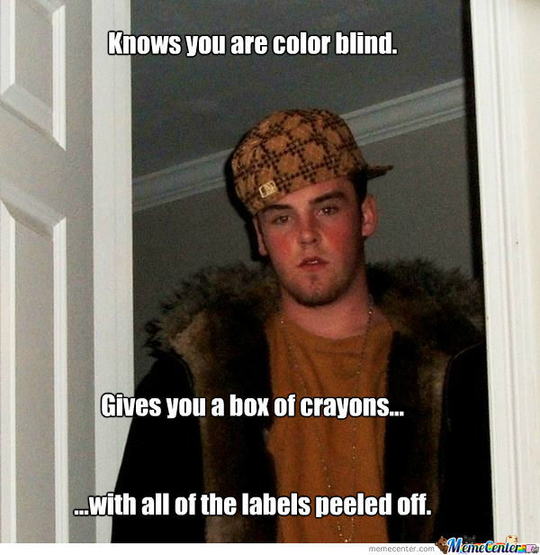 Steve's Color Blind Friend