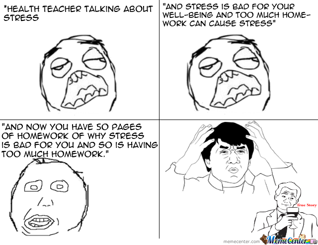 Too much homework can cause stress  depression and lower grades     Pinterest