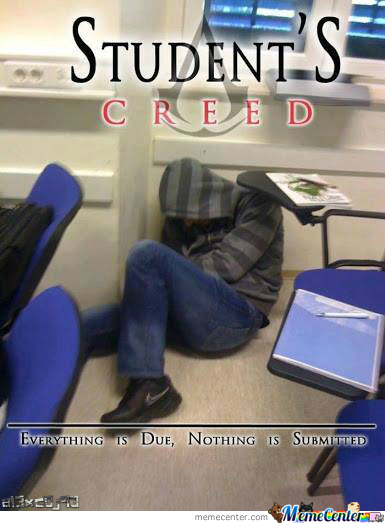 Student`s Creed