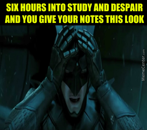 Study And Despair