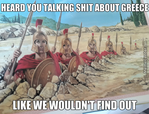 Suddenly: Greeks