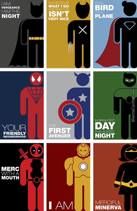 Superhero Pictograms.