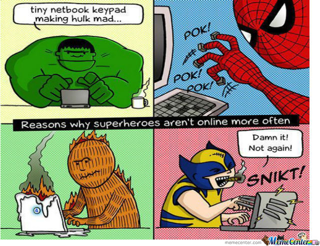 Superheroes Are Not Online Often