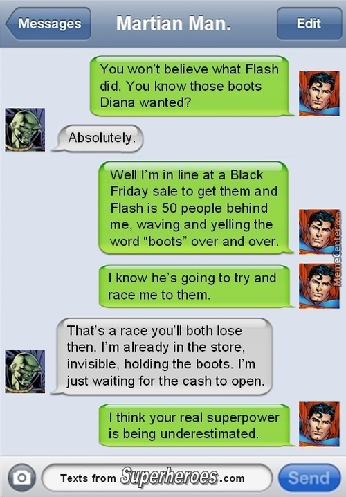 Superheroes Texting Part #7
