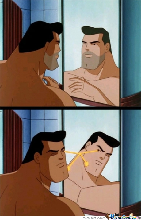 Superman Shaves Like A Baaaws