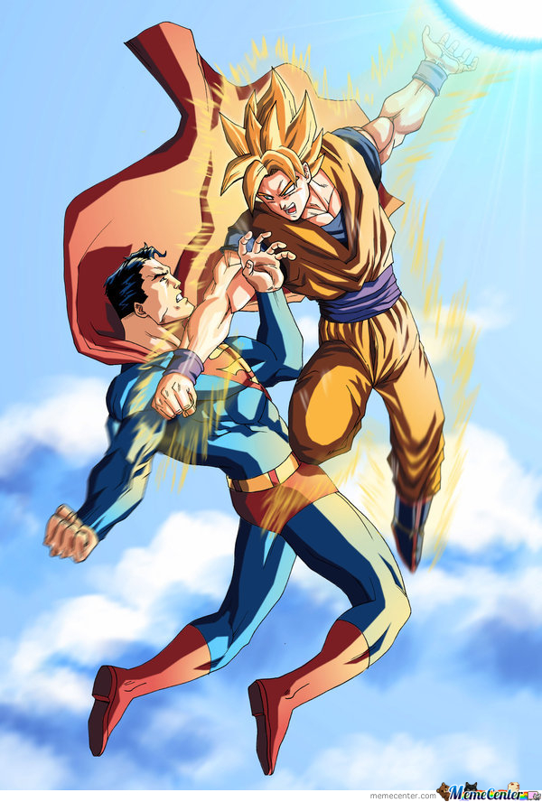 Superman Vs Goku by justus1783 - Meme Center