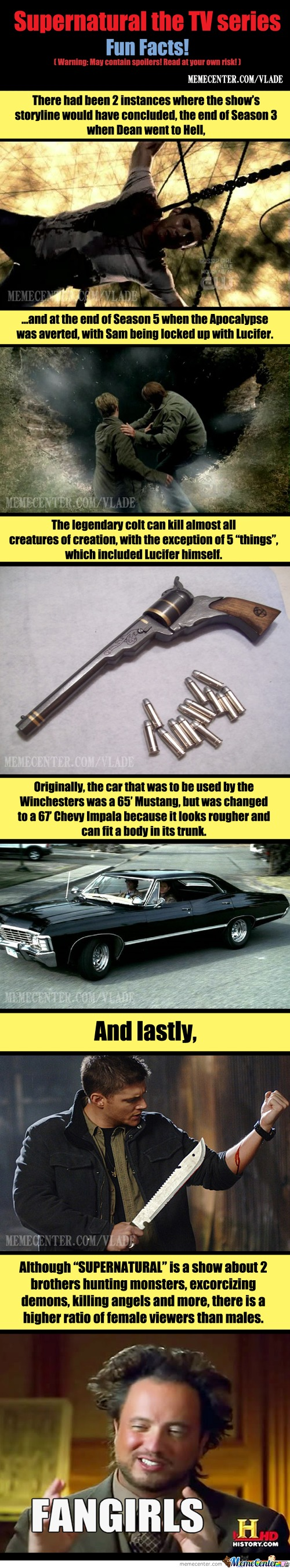 Supernatural Fun Facts!