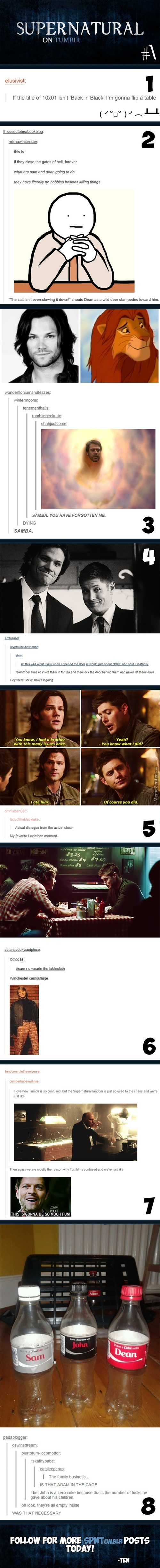 Supernatural On Tumblr #1