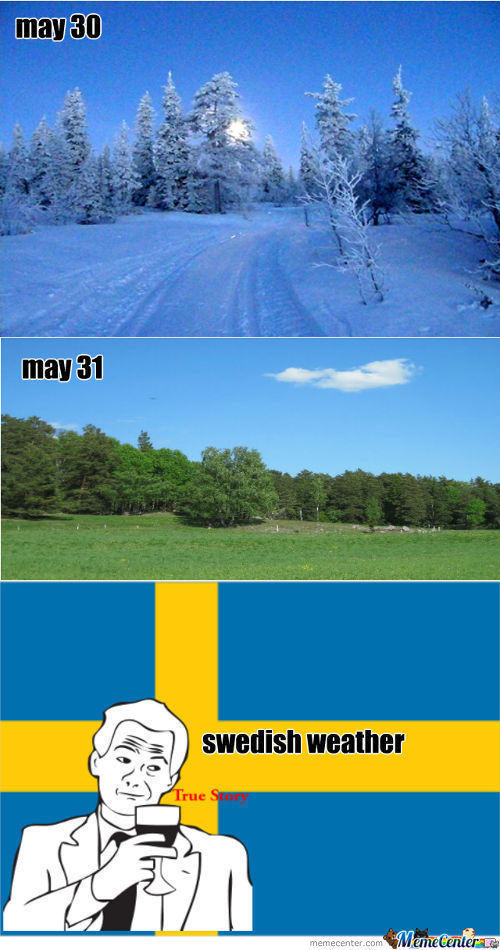 Swedish Weather And Logic Have Never Been Friends