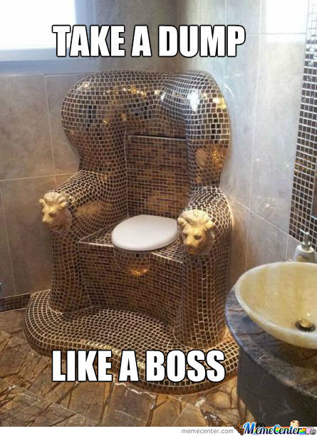 Take A Dump, Like A Boss!