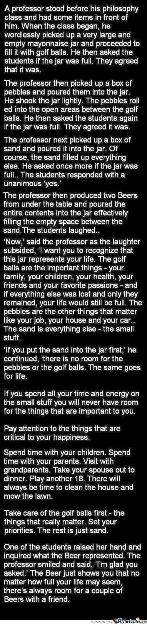 Take Care Of Your Golfballs