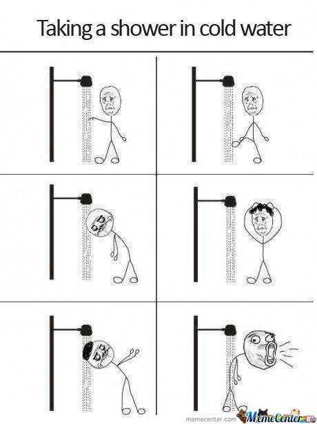 Taking A Shower In Cold Water