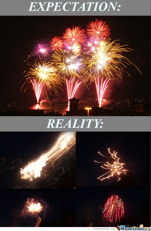 Taking Picture Of Fireworks