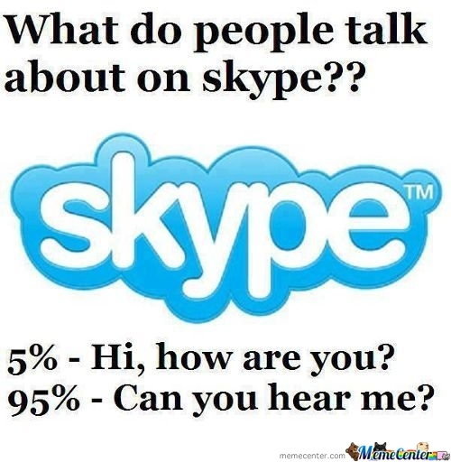 Talking In Skype
