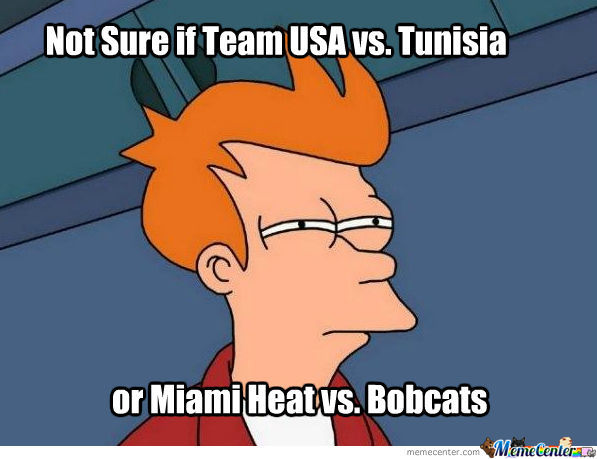 Team Usa Vs. Tunisia...