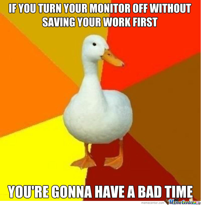 Tech Impaired Duck Giving Advice