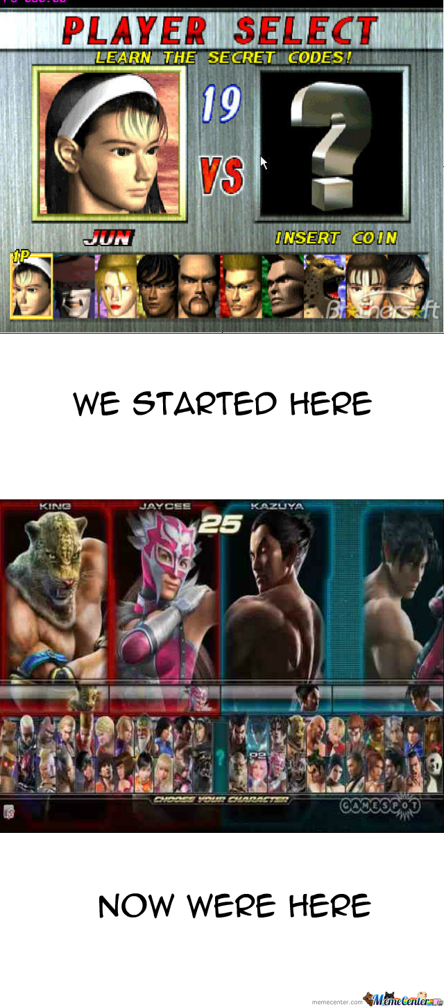 Tekken Then And Now