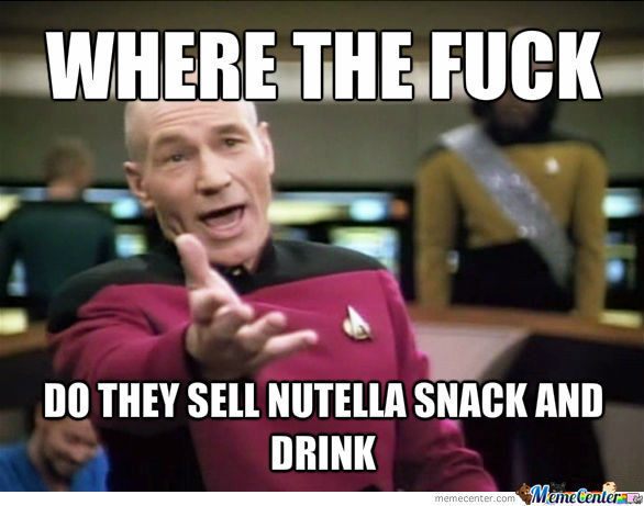 Where the f*ck do they sell nutella snack and drink