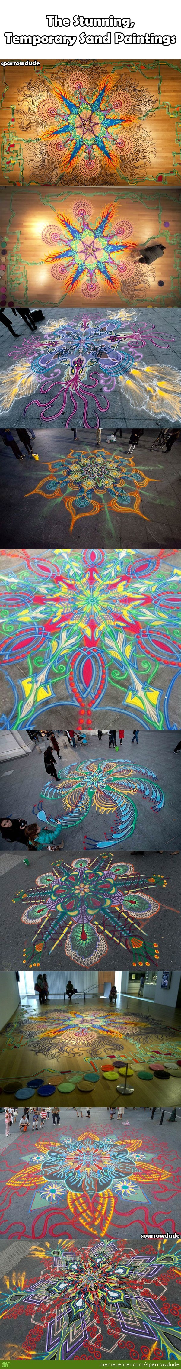 Temporary Sand Paintings