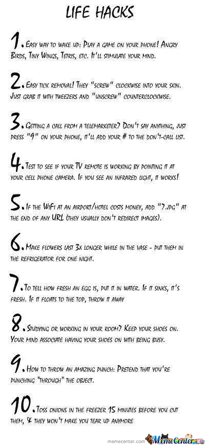 Ten Ways To Cheat Life