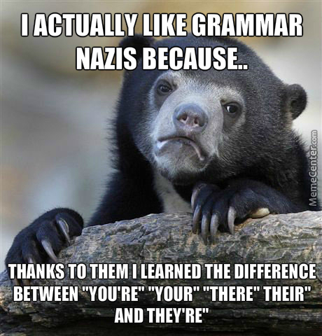 Thank You Grammar Nazis