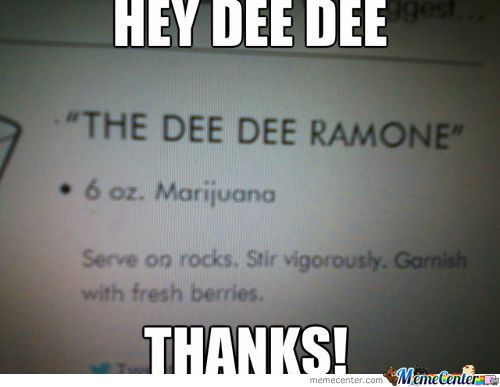 Thanks Dee Dee Ramone.