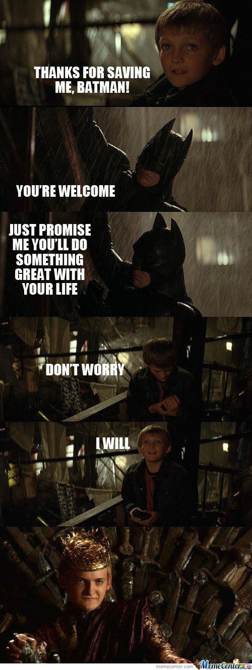 Thanks For Saving Me Batman