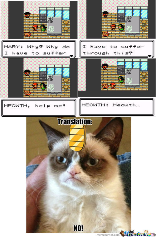 Thanks Meowth...