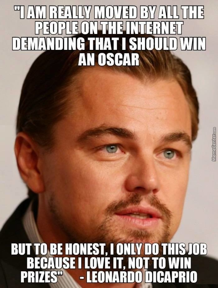 That's Why He Deserves An Oscar