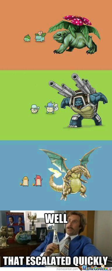 That Evolves Quickly!