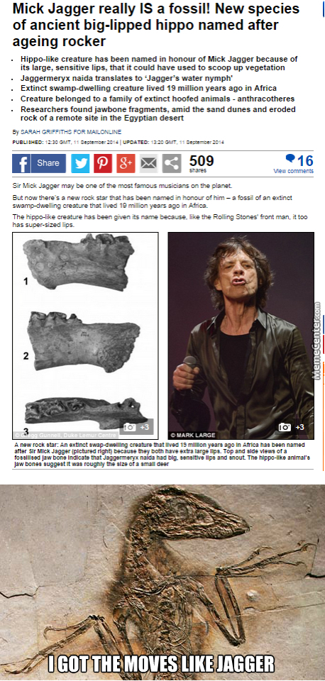That Fossil Be Totally Jagger.....