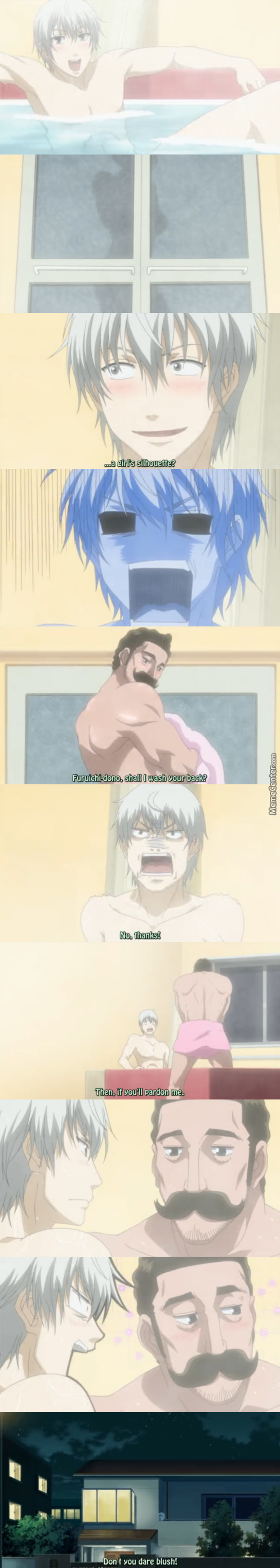 That Moment When Freddie Mercury Wants To Wash Your Back. (Anime: Beelzebub )