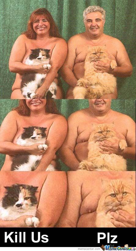 That's A Hairy Pussy......cat.