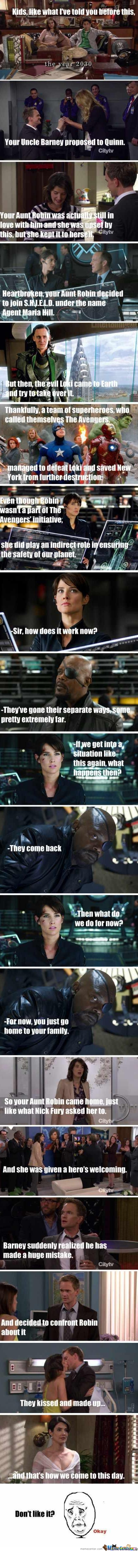 That's Why Aunt Robin Joins S.h.i.e.l.d.
