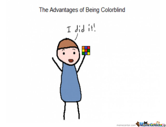 The Advantages Of Being Collorblind