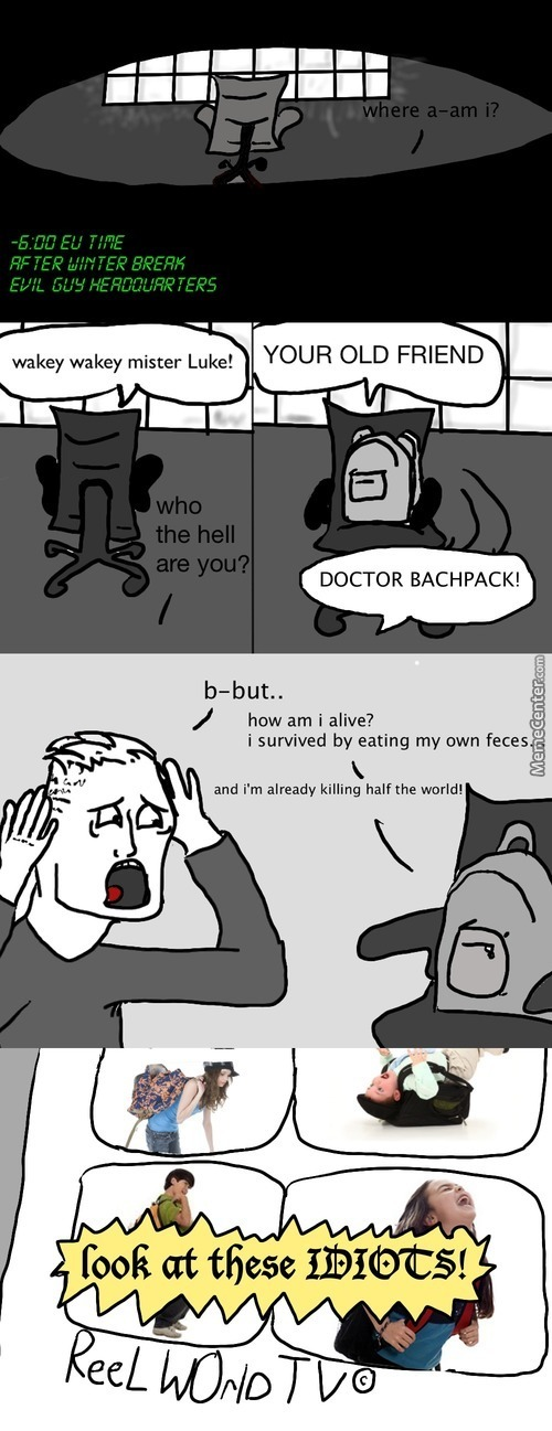 The Adventures Of Luke And His Arch-Nemisis Doctor Bachpack!