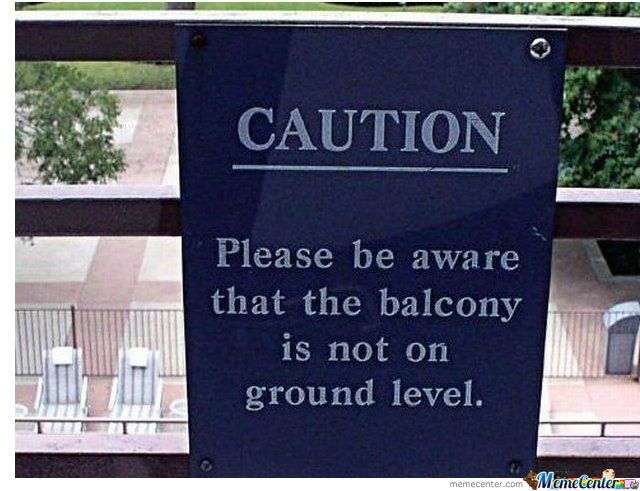 The balcony its not ground level by sierrabradley meme for Balcony dictionary