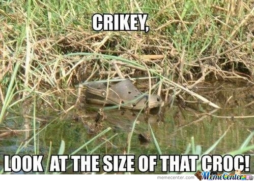 The Croc In Its Natural Habitat