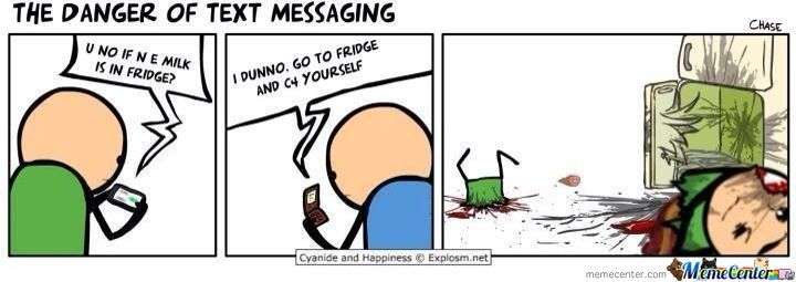 The Danger Of Text Messaging.