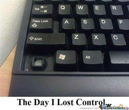 The Day I Lost Control.